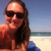 Me enjoying the beach in Melbourne Beach, FL circa 2013. ©KatieWedemeyer