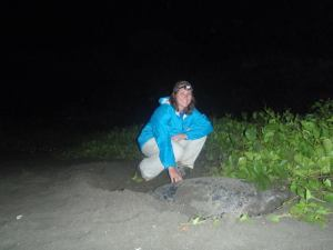 I get to do awesome things now that I'm a scientist: like studying sea turtles in Latin America